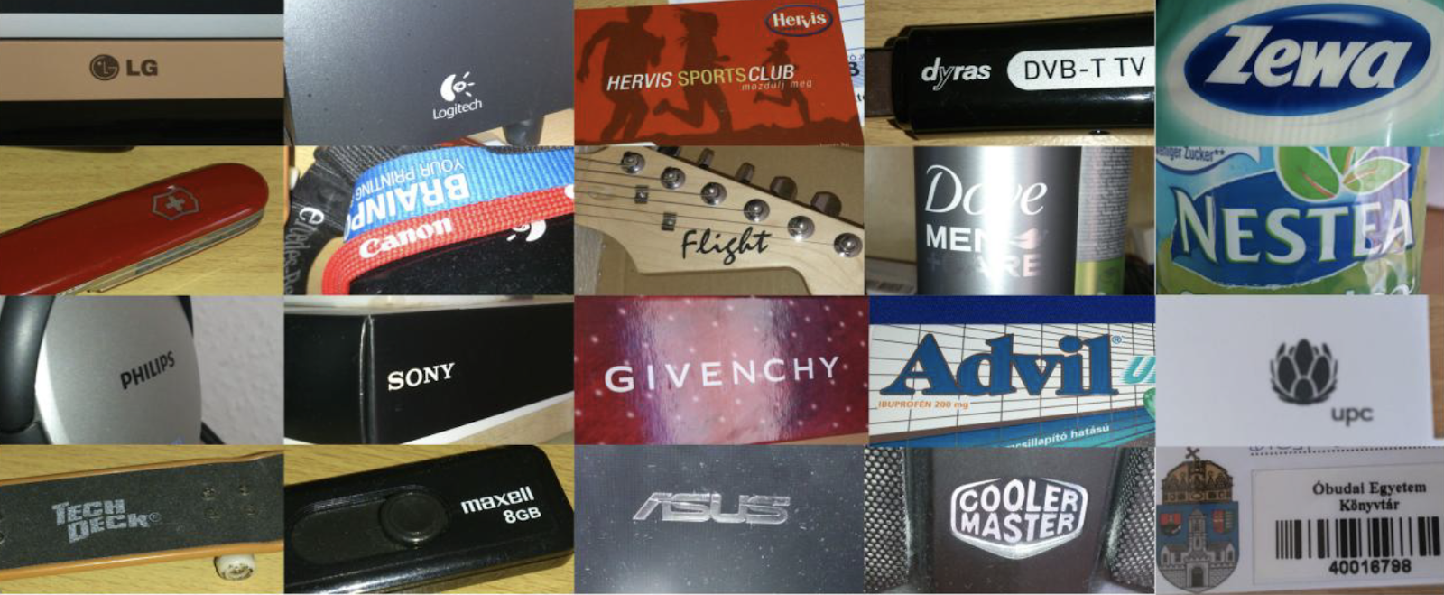Collage of brand elements - they surround us all the time, everywhere