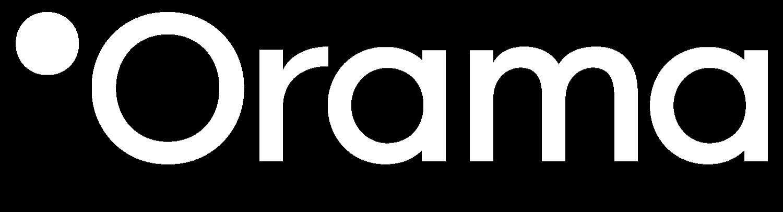 Logo Orama en color blanco
