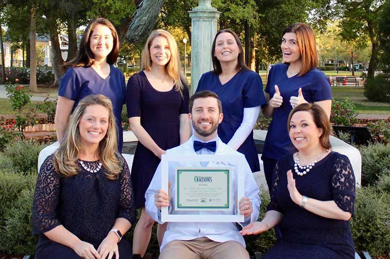 Dr. Drew Byrnes and Staff with Ovations Award