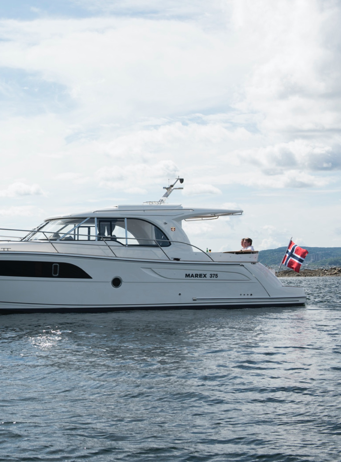 Marex boat in a norwegian fjord