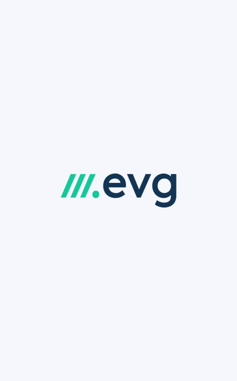 EVG logo on light background
