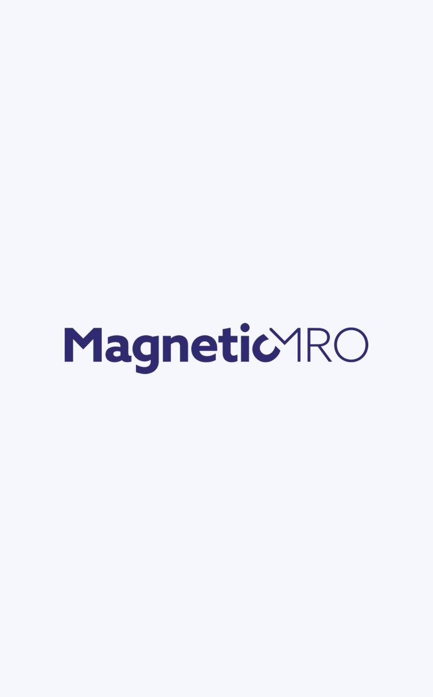 MagneticMRO logo in light background