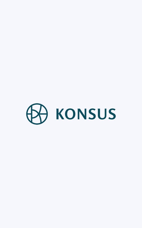 Konsus logo in light background