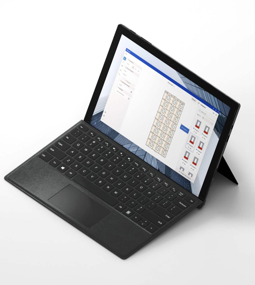 Dextall plugin opened on a tablet