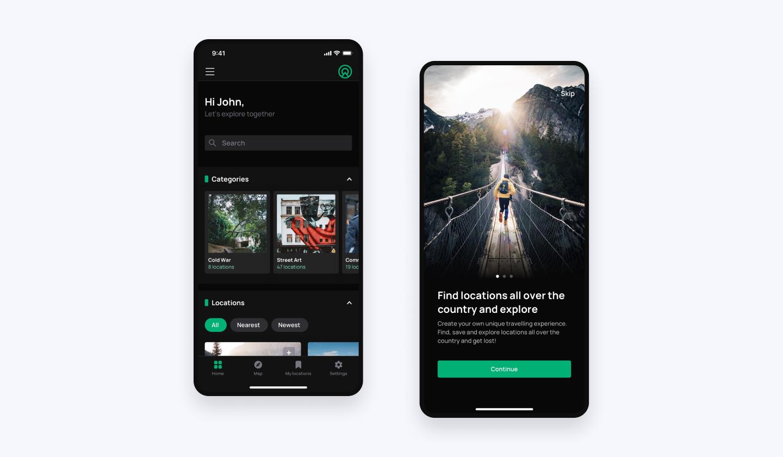tripsolo app screens