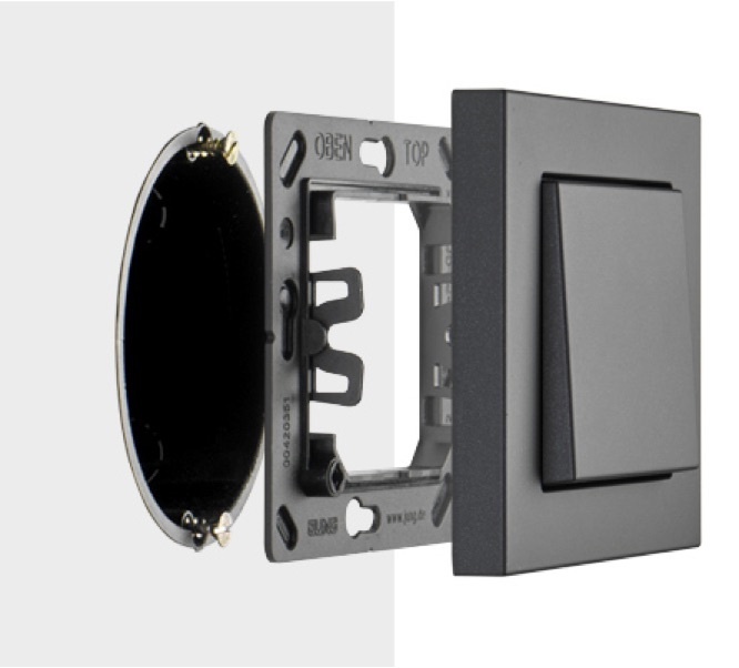 Installation on flush-mounted or cavity-wall boxes