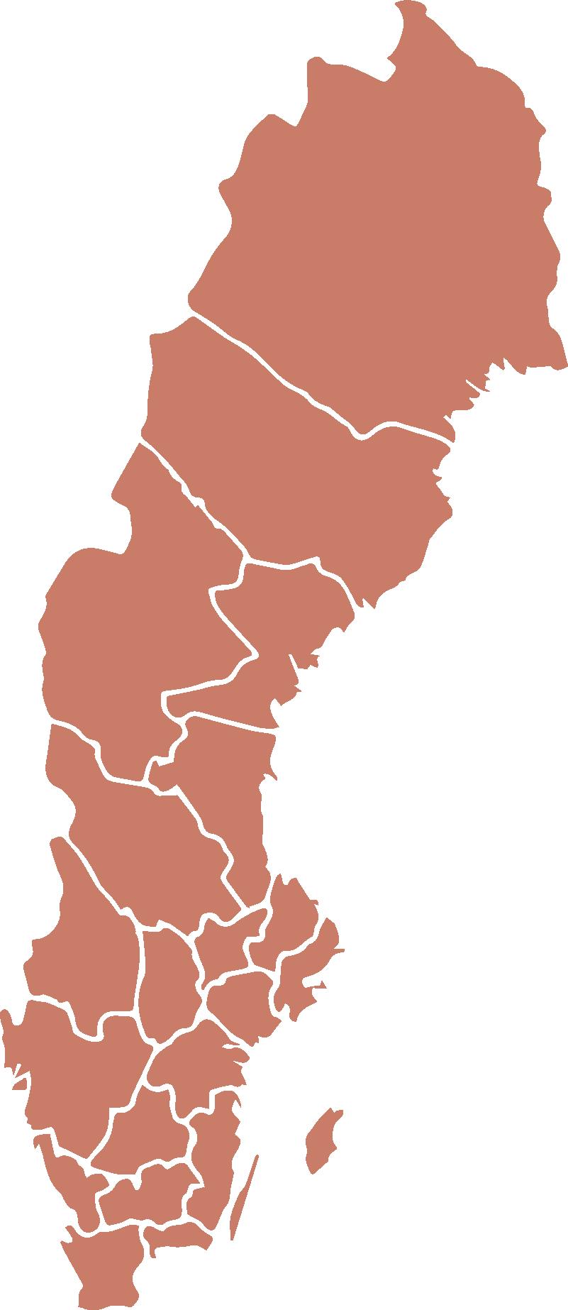Bild av Sverigekarta