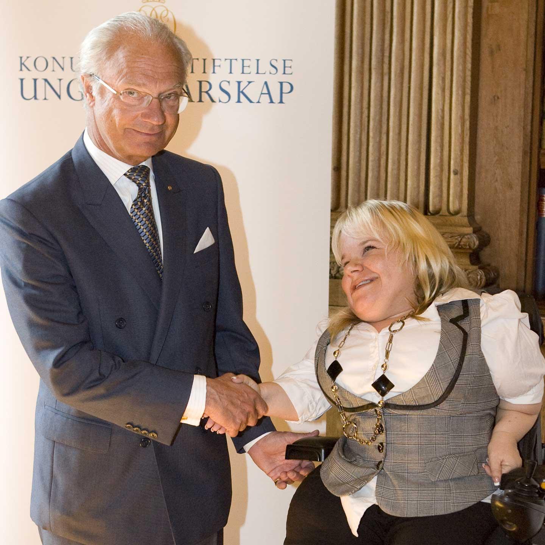 Bild av Veronica och Sveriges Kung