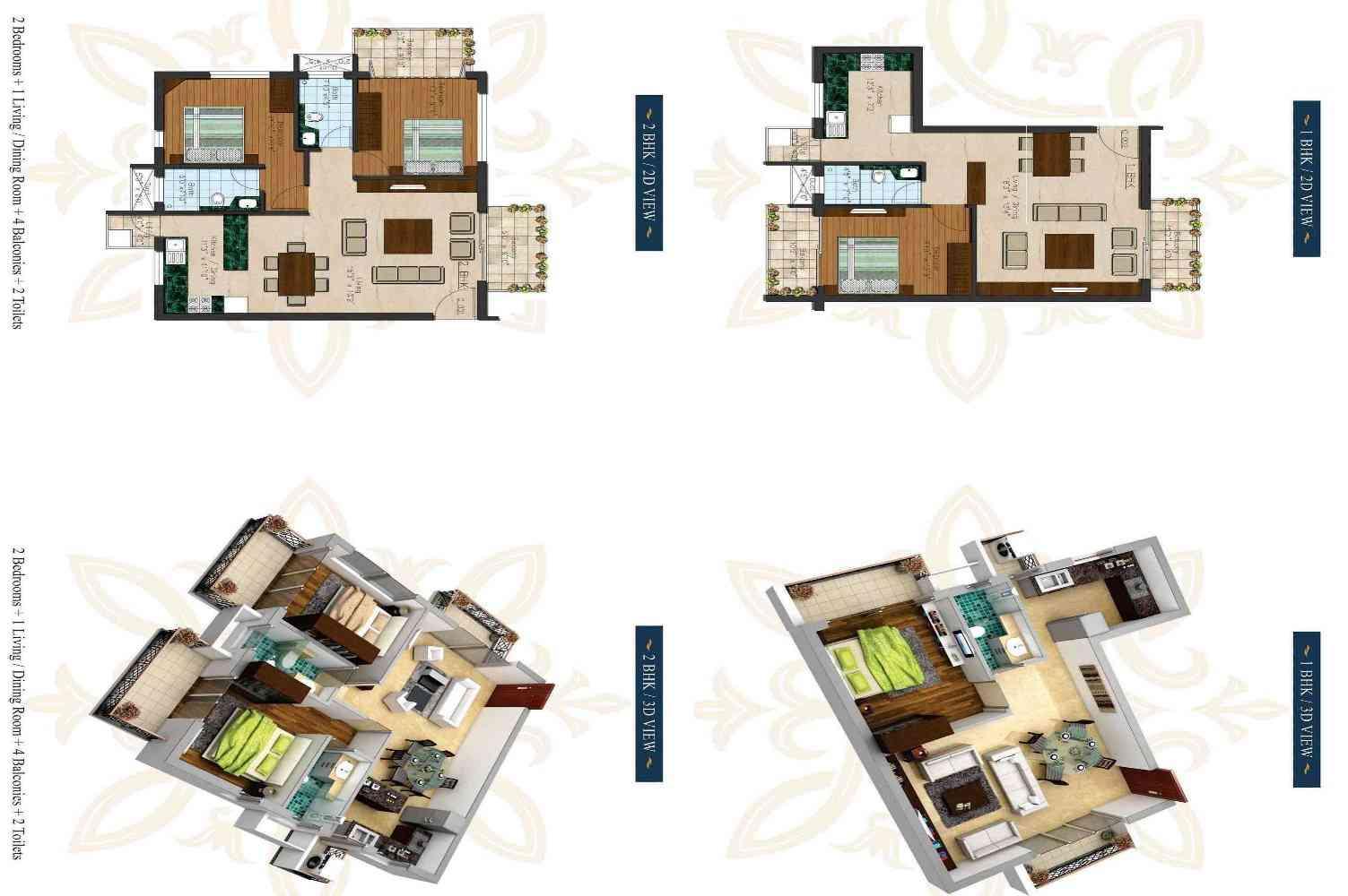 Builder Floors in South Delhi Floor Plans