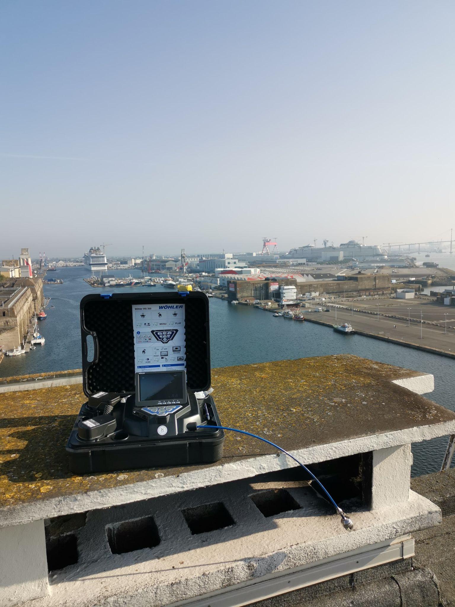Inspection caméra sur le toit de Saint Nazaire