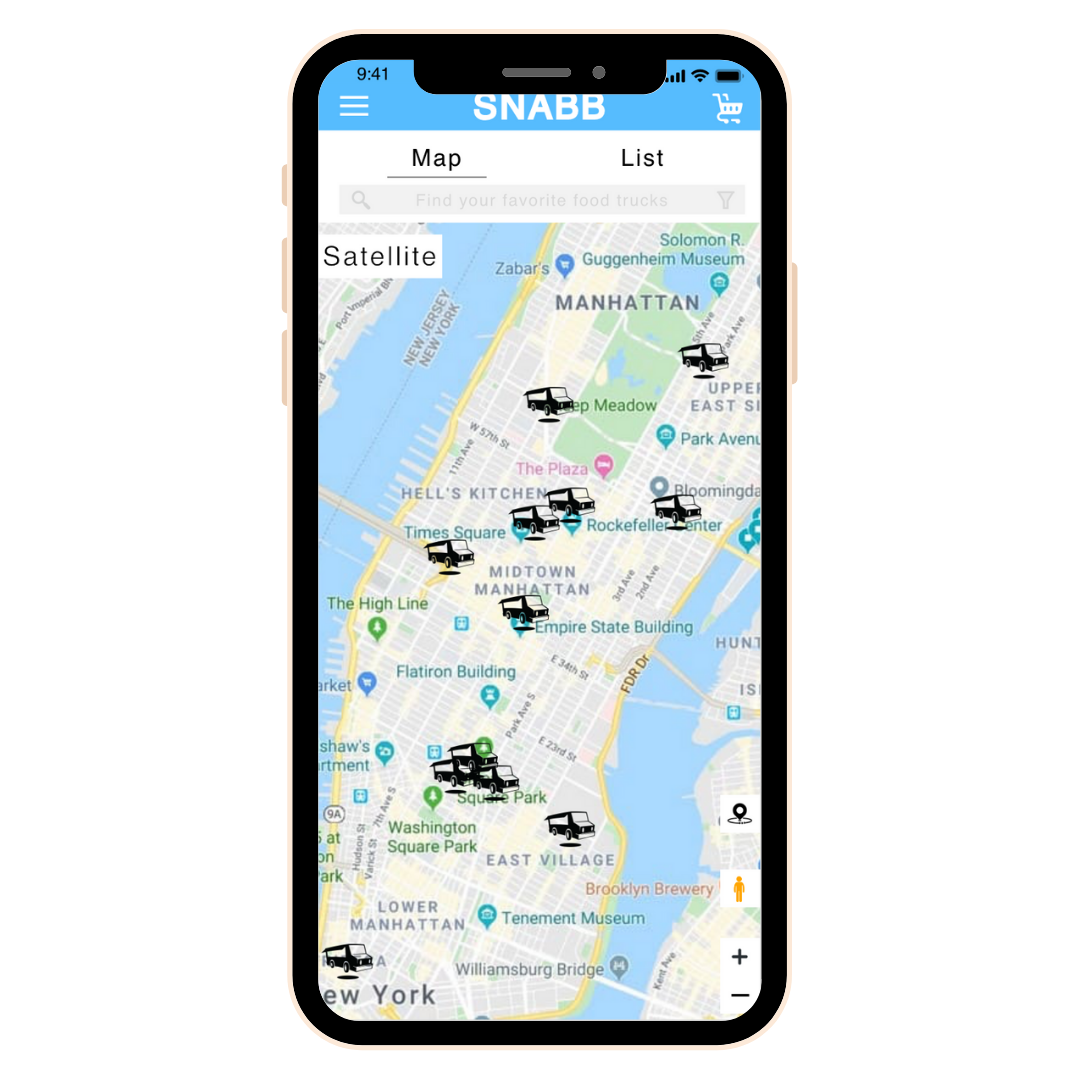 Snabb food delivery app screen