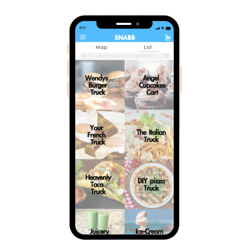 Food truck delivery app