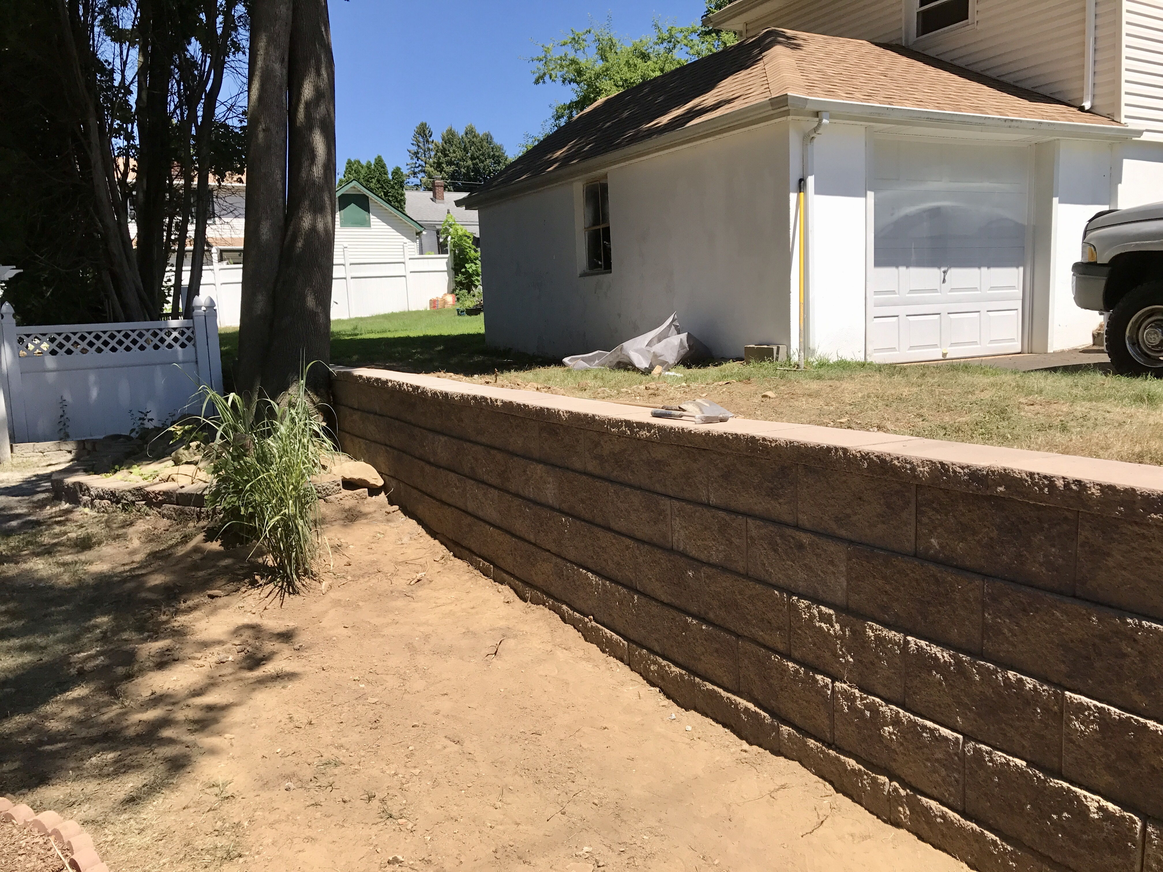 retaining wall installation nj
