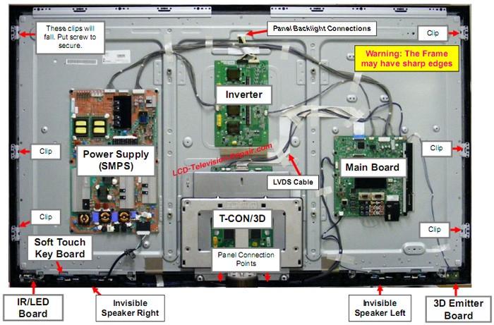 led tv parts