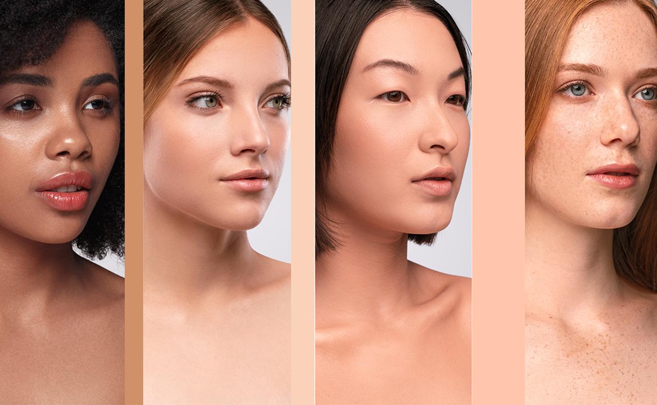 Kvinner med forskjellige fitzpatrick hudtyper