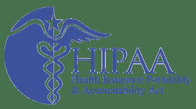 An image of the HIPAA logo