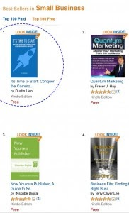 image of my book at the #1 spot