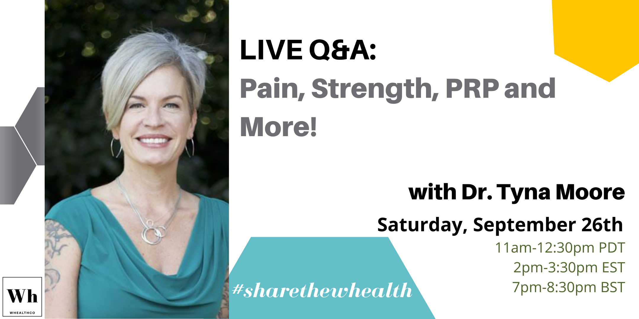 Pain, Strength, PRP and more with Dr. Tyna Moore