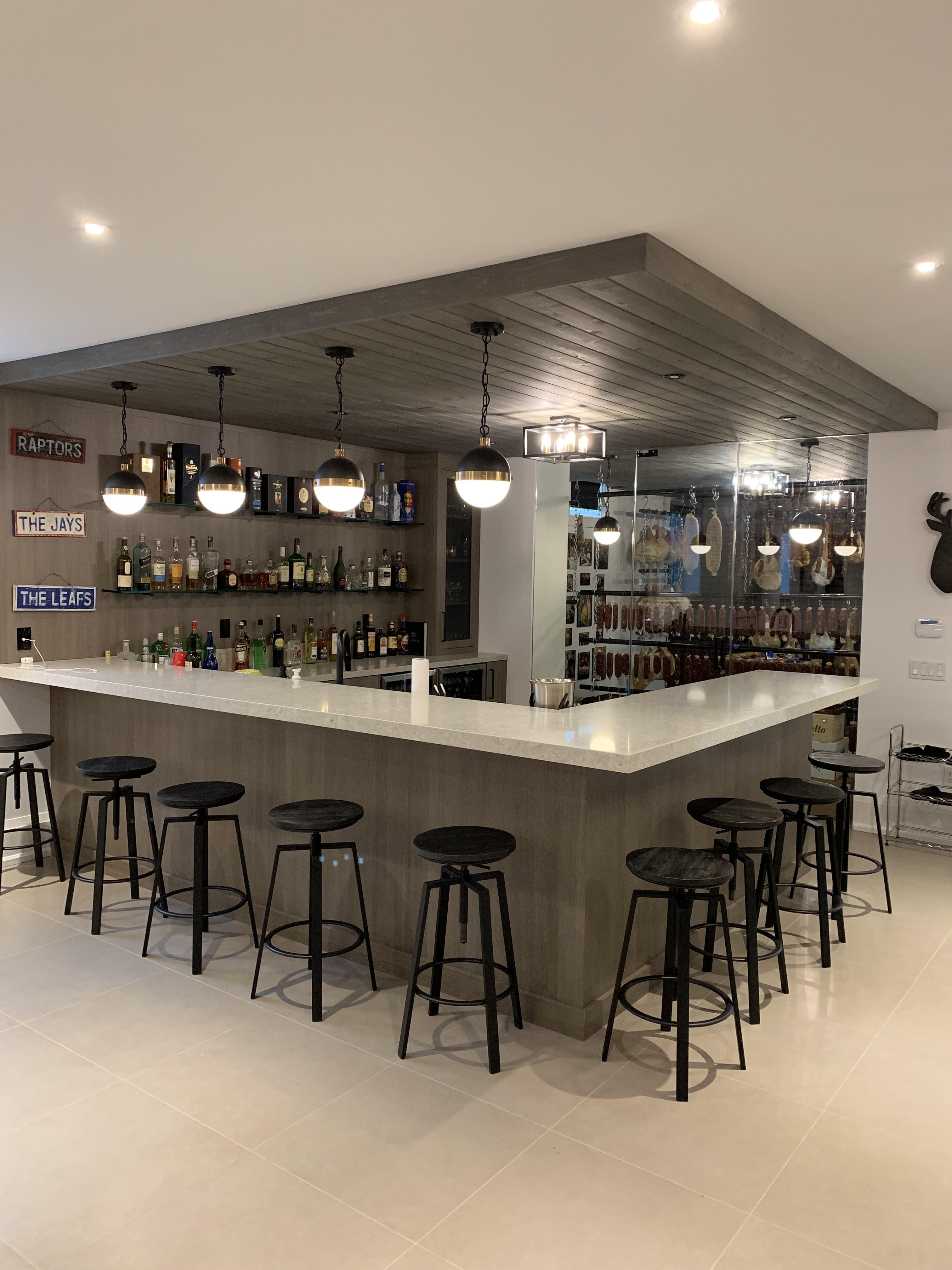 modern bar with soppresata cantina