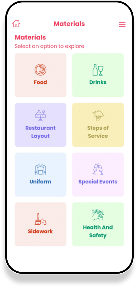 material page in yelli app
