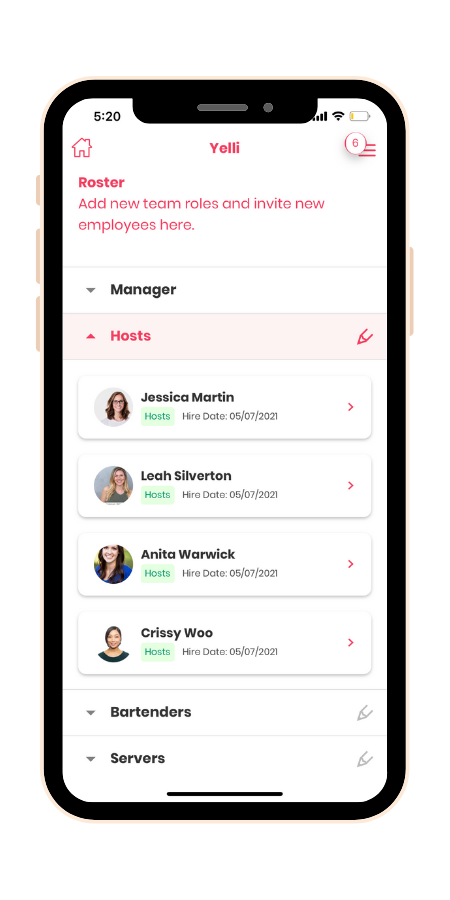 invite team members to use yelli app on mobile device