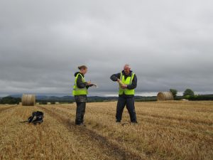 The survey team is visiting approximately 2,500 locations across the North Midlands collecting samples to develop maps revealing the abundance of chemical elements that are present in the soil, plus stream sediment and sediment water.