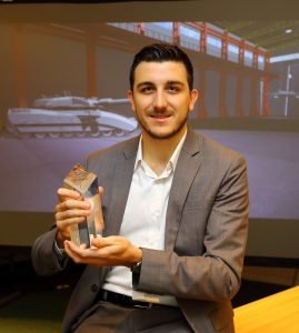 Software Engineer Ryan Neal receives Lockheed Martin UK Award for Excellence for his work on the 3D Visualisation Suite
