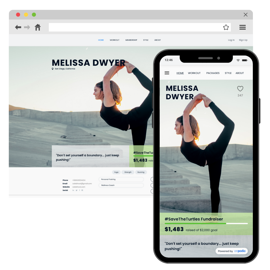 A platform for any virtual fitness instructor