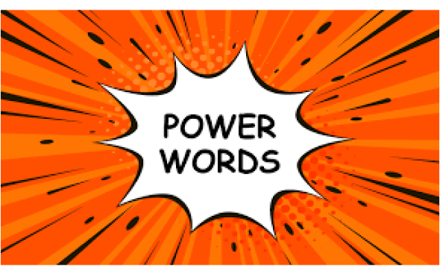 Power Words Cheat Sheet Google Sheet