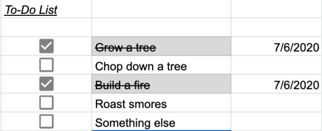 Sheets Task List Google Sheet