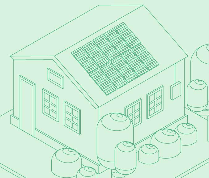 18 solar panel home illustration