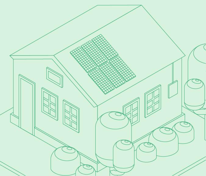 12 solar panel home illustration