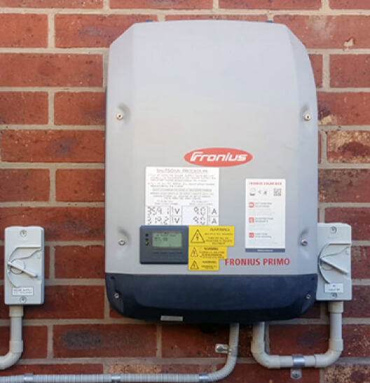 Inverter on a wall