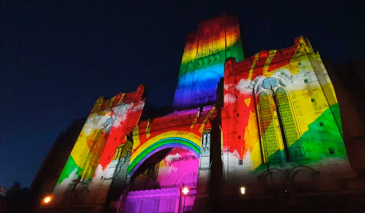 Outdoor Projection Mapping at Liverpool Cathedral