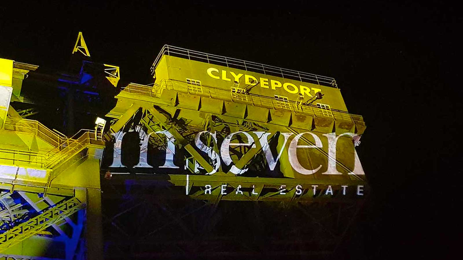Outdoor Projection Mapping in Glasgow