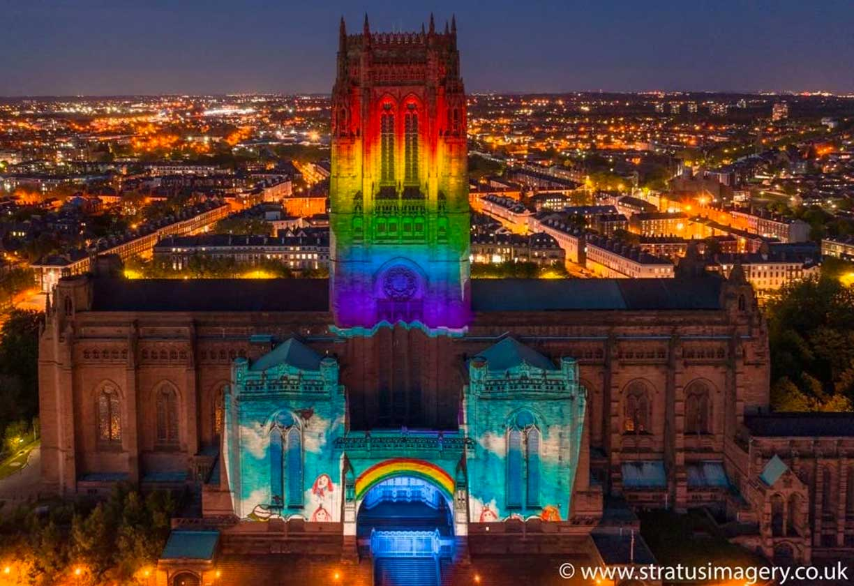 Projection Mapping Liverpool Cathedral