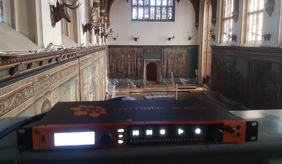 audio installation at hampton court palace