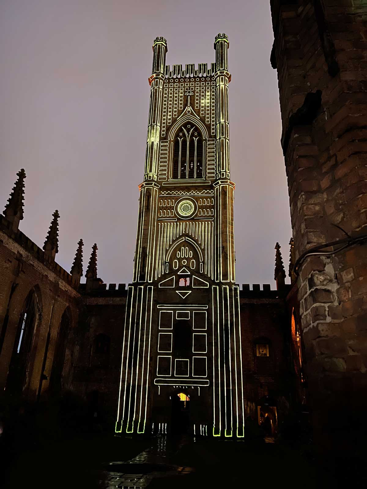 St Lukes Church Liverpool Projection Mapping