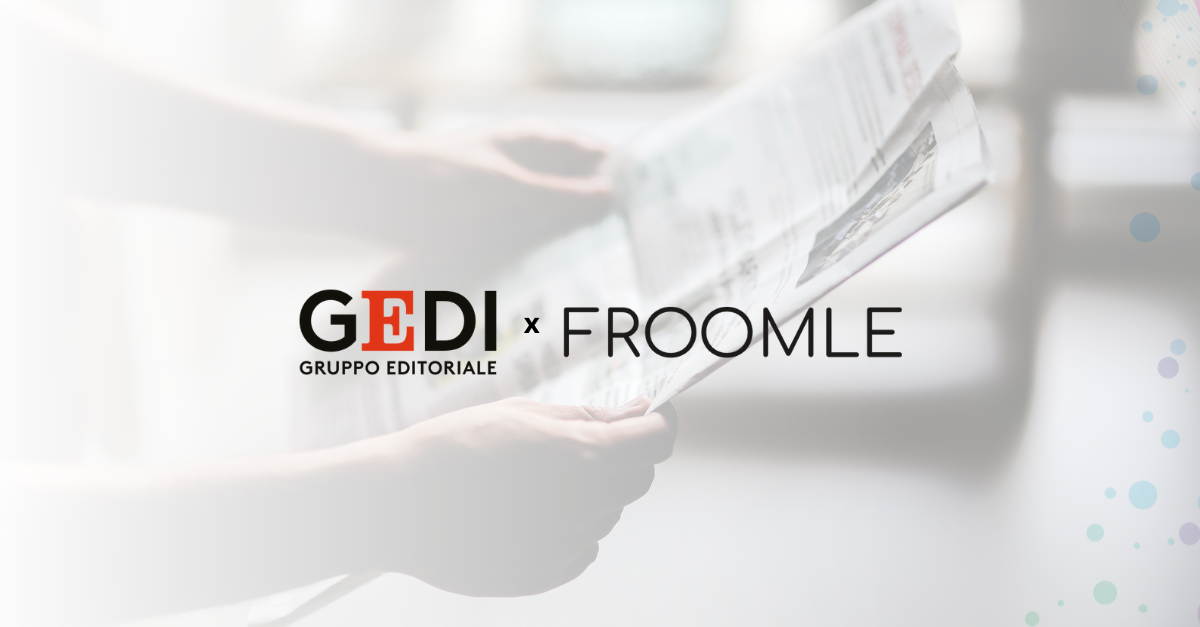 Froomle and GEDI partner to improve readers' online experience. Websites of the leading Italian media group integrate AI-based recommendation tools offering selected contents to match users' interests and preferences.