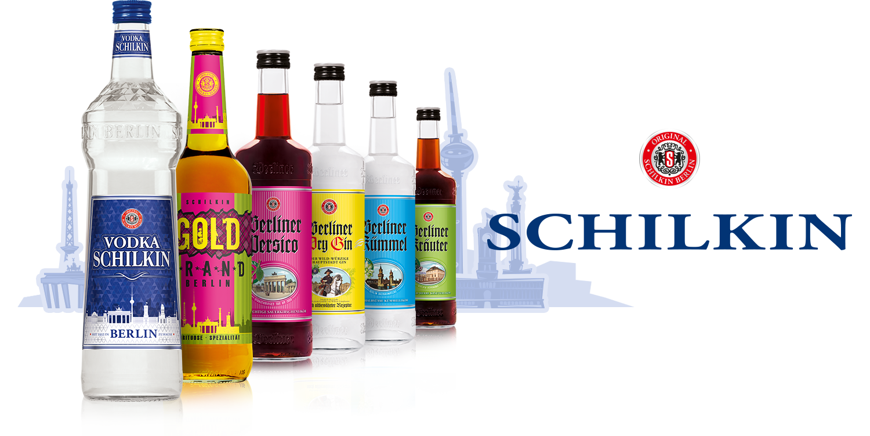SCHILKIN GmbH & Co. KG BERLIN Sortiment: Vodka SCHILKIN, Goldbrand Berlin, Berliner Persico, Berliner Dry Gin, Berliner Kümmel, Berliner Kräuter