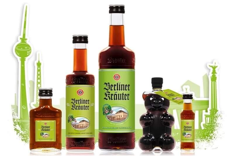 Berliner Kräuter Flaschen mit Berliner Stadtsilhouette