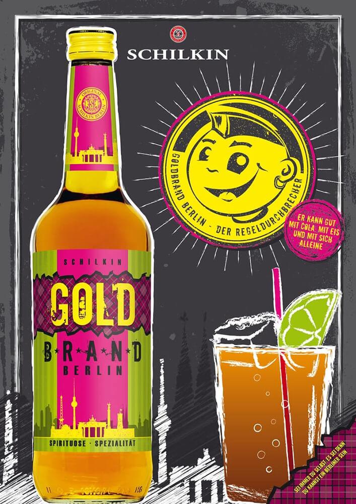 Anzeige: Werbung für Sorte Goldbrand Berlin
