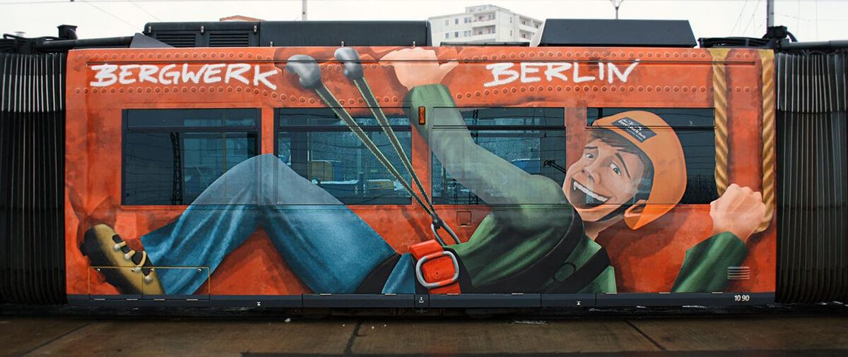 Bergwerk Berlin Straßenbahn Illustration
