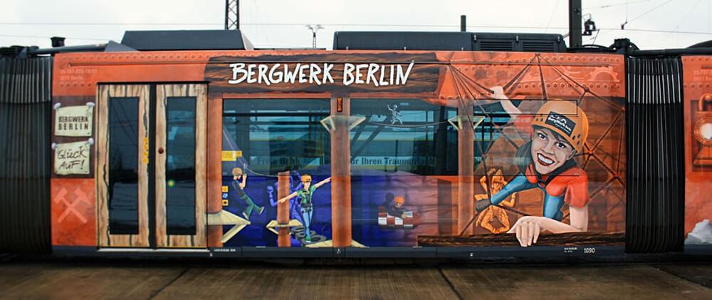 Bergwerk Berlin Straßenbahn Gestaltung