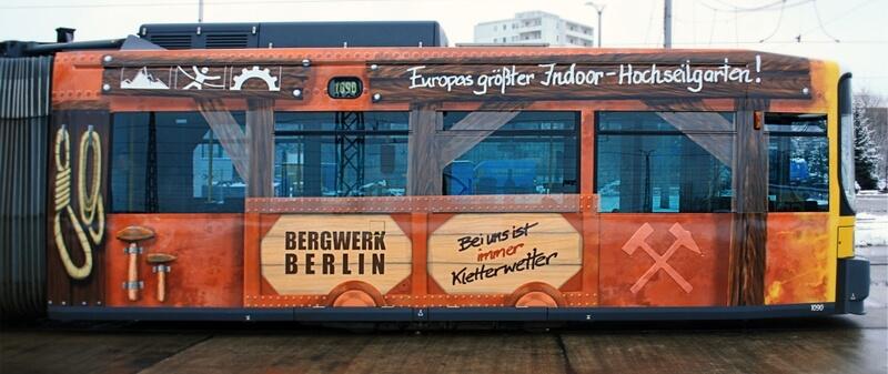 Bergwerk Berlin Straßenbahn Seitenansicht