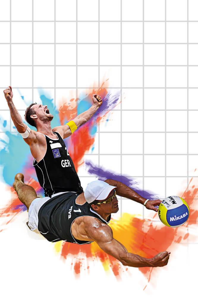 Beachvolleyball-Olympia Spieler