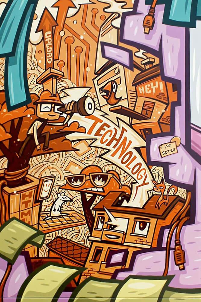 Immobilienscout24 Graffiti Art