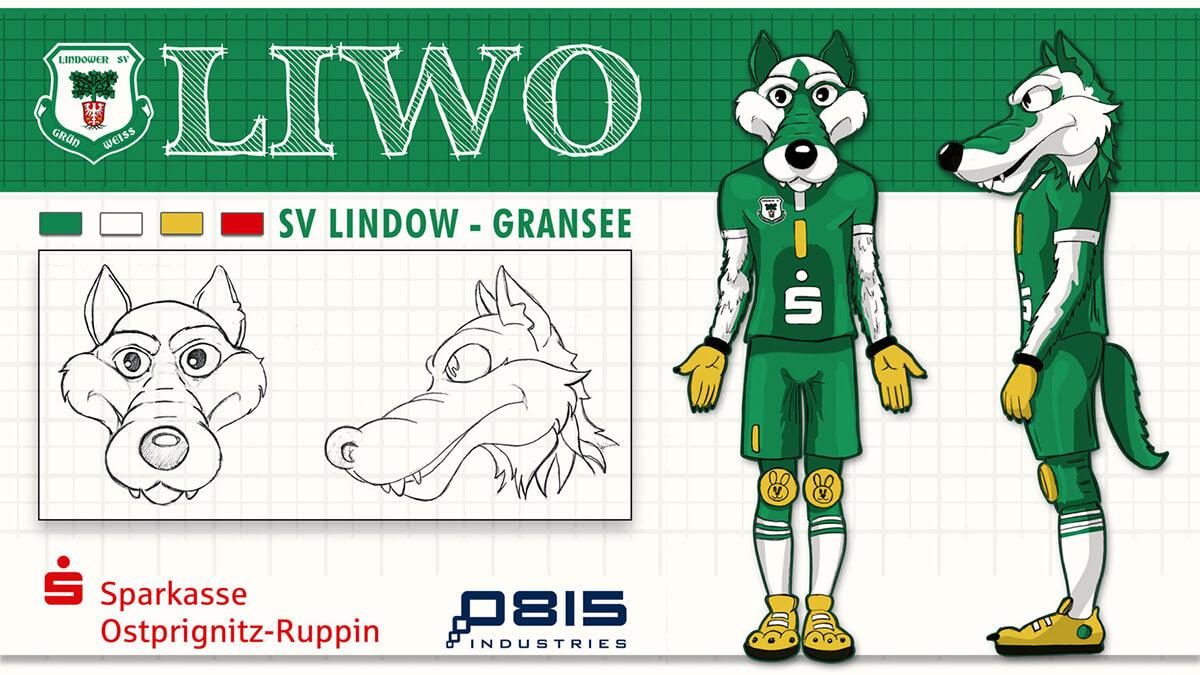 SV LINDOW-GRANSEE Maskottchen Charakter Konzept Entwicklung