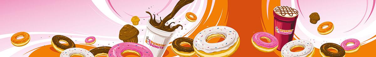 DUNKIN' Donuts mit Becher Illustration