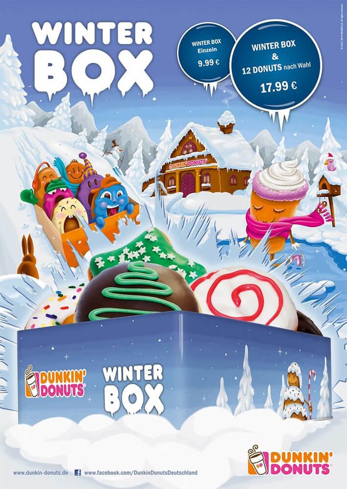 DUNKIN' Anzeige Winterbox